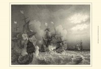 Small Ships at Sea I (P) Fine Art Print