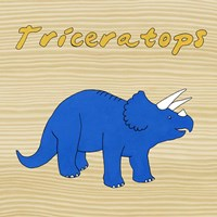 Triceratops Framed Print