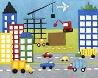 Storybook Construction Site Fine Art Print