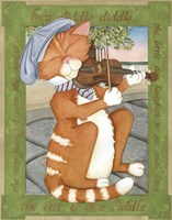 The Cat & The Fiddle Fine Art Print