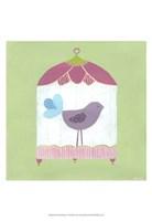 Patchwork Birdcage I Fine Art Print