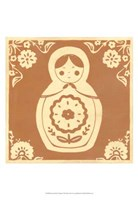 Russian Doll in Orange Fine Art Print