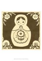 Russian Doll in Brown Fine Art Print