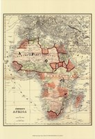 Small Antique Map of Africa (P) Fine Art Print