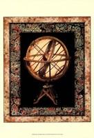 Globe with Marble Border II Fine Art Print