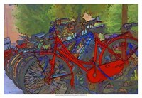 Colorful Bicycles II Fine Art Print