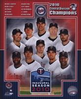 Minnesota Twins 2010 AL Central Champions Composite Fine Art Print