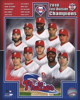 Philadelphia Phillies 2010 NL East Division Champions Composite Fine Art Print