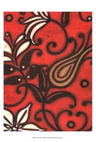 Scarlet Textile I Fine Art Print