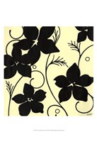 Cream with Black Flowers Fine Art Print