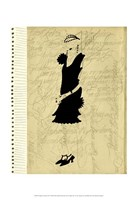 Flapper Fashion III Framed Print