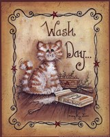 Wash Day - cat Fine Art Print