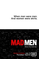 Mad Men - when men were men Wall Poster