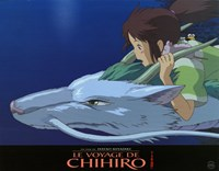 Spirited Away (French Title) - riding Wall Poster