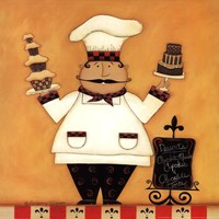 Chef with Desserts Framed Print