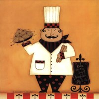 Chef with Spaghetti Fine Art Print