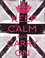 Keep Calm And Carry On 3 Framed Print