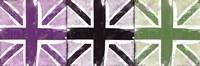Union Jack Three Square II Framed Print