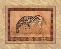Zebra - mini Framed Print