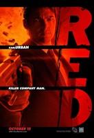 Red Karl Urban Framed Print