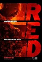 Red John Malkovich Framed Print