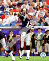 Tom Brady 2010 throwing Fine Art Print