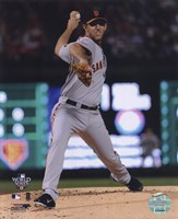 Madison Bumgarner Game Four of the 2010 World Series Action Fine Art Print