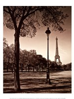 An Afternoon Stroll - Paris I Fine Art Print