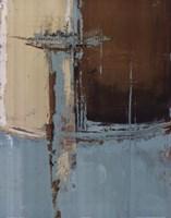 Oxido on Teal I Framed Print