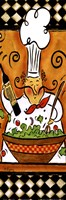 Whimsical Chef III (salad) Framed Print