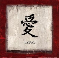 Love - border Fine Art Print