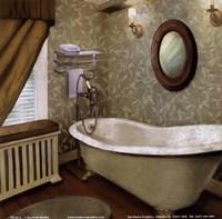 Green Farmhouse Bath I Framed Print