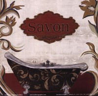 Savon (Red) Framed Print