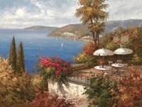 Mediterranean Patio Fine Art Print