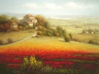 Fields of Red and Gold I Fine Art Print