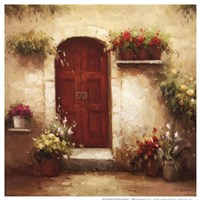 Rustic Doorway III Framed Print