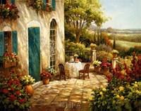 Sunny Terrace I Fine Art Print