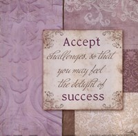 Accept Challenges Framed Print