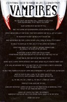 Everything I need to know in life I learned from vampires Wall Poster