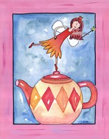 Harlequin Teapot Fairy Fine Art Print