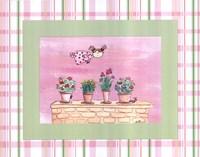 Flyby Fairy -Flowerpots Framed Print