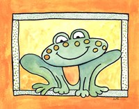 Here's Looking at You - Frog Framed Print