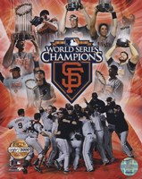 San Francisco Giants 2010 World Series Champions PF Gold Fine Art Print