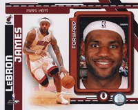 Lebron James 2010-11 Studio Plus Fine Art Print