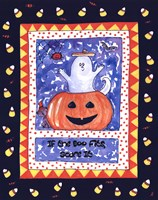 Halloween Ghost (Blue) Fine Art Print