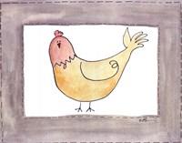 Vintage Chicken Framed Print