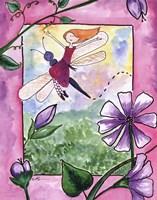 Dragonfly Flight Framed Print