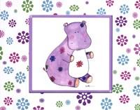 Groovy Hippo Fine Art Print