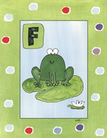 F is for Frog Framed Print