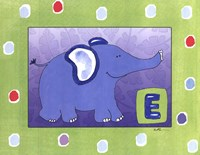 E is for Elephant Framed Print